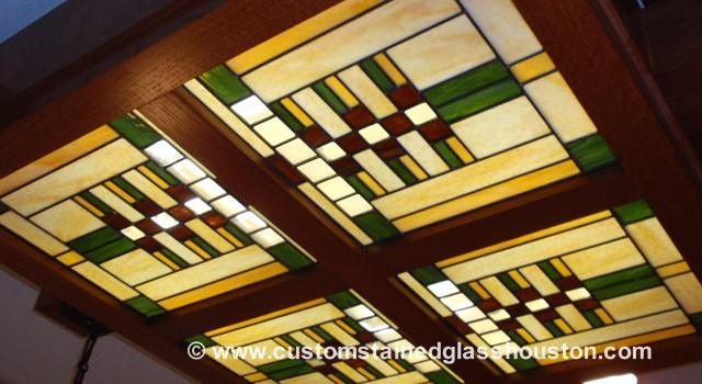 Frank Lloyd Wright Stained Glass Stained Glass Houston