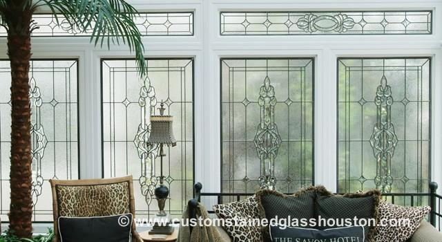 Transom stained glass windows custom stained glass houston for Custom transom windows