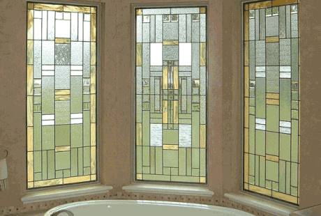 scottish stained glass houston - Bathroom Windows