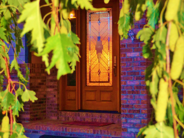 Custom Stained Glass Entryway Doors Houston