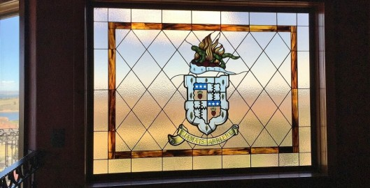 family crest stained glass houston