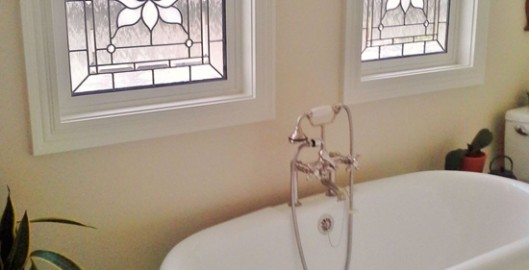 bathroom stained glass houston
