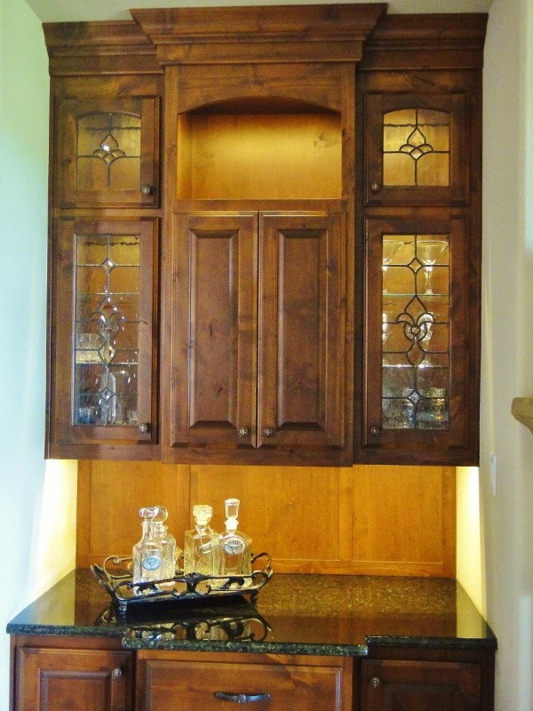 cabinet door stained glass