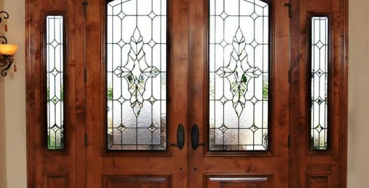 entryway stained glass doors houston