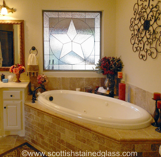 bathroom stained glass houston texas star